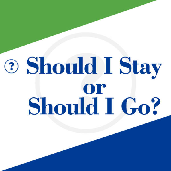 Should I Stay or Should I Go workbook cover
